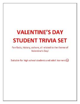 Valentine's Day Student Trivia & Fun Facts