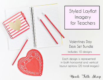 Valentine's Day Styled Layflat Images for Teachers - Personal & Commercial Use