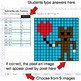 Valentine's Day - Subtracting Like Fractions - Google Sheets Pixel Art