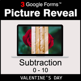 Valentine's Day: Subtraction 0-10 - Google Forms Math Game