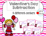 Valentine's Day Subtraction (1-12)