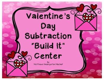 Valentine's Day Subtraction Build It Center