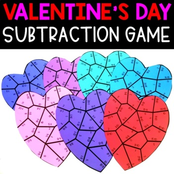 Valentine's Day Subtraction Facts