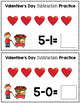 Valentine's Day Subtraction Game - Playdough Smash