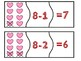 Valentine's Day Subtraction Puzzle Cards