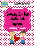 Valentine's Day Subtraction With Regrouping Sorting Activity & SCOOT Game