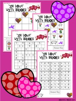 Valentine's Day Sudoku Puzzle Bundle