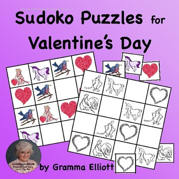 Free Valentine's Day Sudoku Puzzles for Beginners