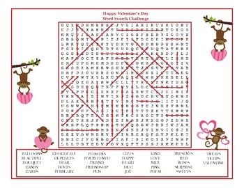 Valentine's Day Super Word Search Challenge