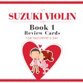 Valentine's Day Suzuki Violin Review Cards Book 1