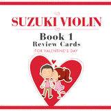 Valentine's Day Suzuki Violin Review Cards Book 1