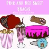 Valentine's Day Sweet Snacks Clip Art