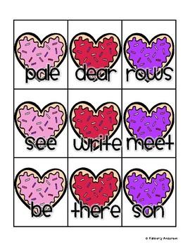 Valentine's Day Sweet Treat Homophones Match