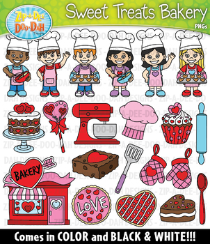 Valentine's Day Sweet Treats Bakery Clipart {Zip-A-Dee-Doo-Dah Designs}