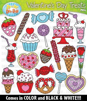 Valentine's Day Sweet Treats Clipart {Zip-A-Dee-Doo-Dah Designs}