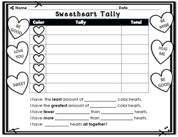 Valentine's Day Sweetheart Graphing MULTILEVEL