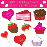 Valentine's Day * Sweets * Clipart * Cupcakes * Cake * Lollipop