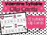 Valentine's Day Syllable Clip Cards