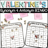 Valentines Day Synonym and Antonym BINGO