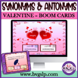 BOOM CARDS Synonyms and Antonyms Valentine's Day NO PRINT