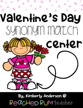 Valentine's Day Kiddos and Hearts Synonyms Match