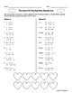 Valentine's Day Systems of Equations Cooperative Learning