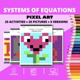 Valentine's Day: Systems of Equations Pixel Art Mystery Pictures