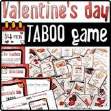 Valentine's Day ❤ TABOO game, vocabulary slideshow, refere