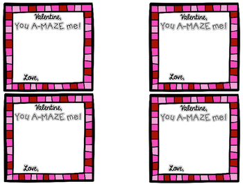 Valentine's Day Tags (You A-MAZE me)