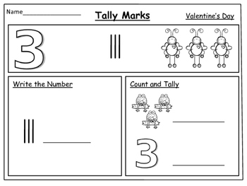 Valentine's Day---Tally Marks: