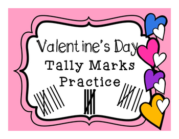 Valentine's Day Tally Marks Practice