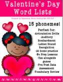 Valentine's Day Targeted Word Lists