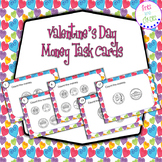 Counting Money Task Cards - Valentine's Day themed station activity