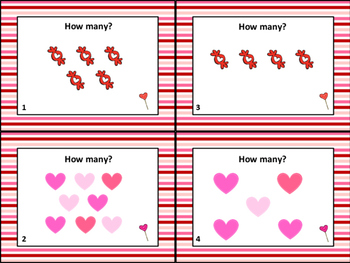 Valentine's Day Task Cards Counting to Ten