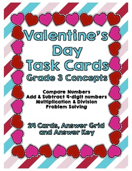 Valentines Day Task Cards Grade 3