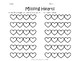 Valentine's Day Teen Number Practice- Missing Hearts- Math Center