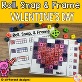 Valentine's Day Ten Frame Snap Cubes Matching Activity