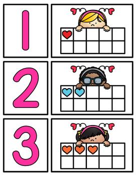 Valentine's Day Ten Frames