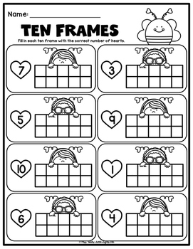 Valentine's Day Ten Frames