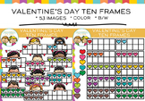Ten Frames for Valentine's Day Clip Art
