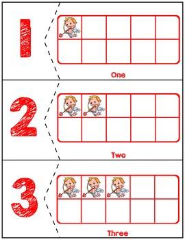 Valentine's Day Ten Frames Matching Activity   Cupids