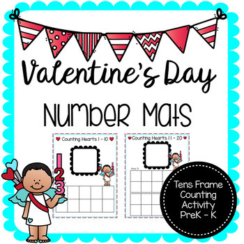 Valentine's Day Tens Frame Mats