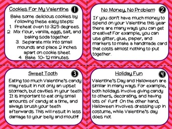 Valentine's Day Text Structure