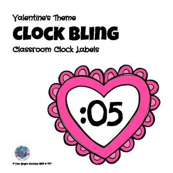 Valentine's Day Theme Clock Bling