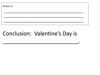 Valentine's Day Theme Opinion Writings