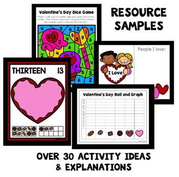 Valentine's Day Theme Preschool Lesson Plans -Valentine's Day Activities