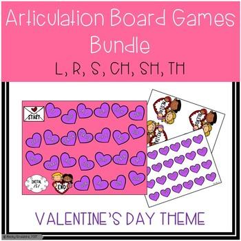Valentine's Day Themed Articulation Board Games BUNDLE