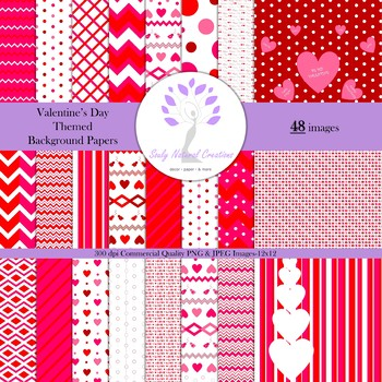 Valentine's Day Themed Background Papers