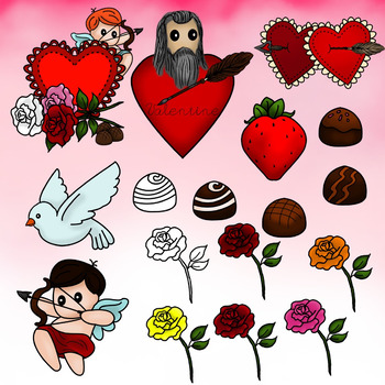 Valentine's Day Themed Clip Art