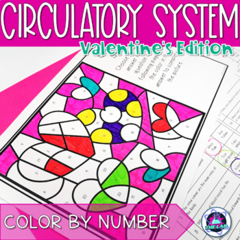 Valentines day activities science teaching resources teachers pay valentines day themed science color by number circulatory system fandeluxe Images